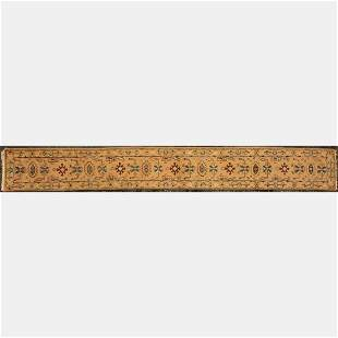 An Indo Turkish Oushak Long Wool Runner, 21st Century.