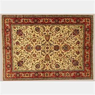 A Fine Persian Tabriz Wool Rug, 20th Century.