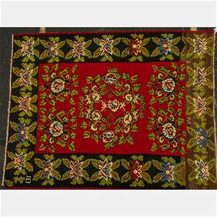 A Turkish Caucasian Kilim Wool Rug, 20th Century.