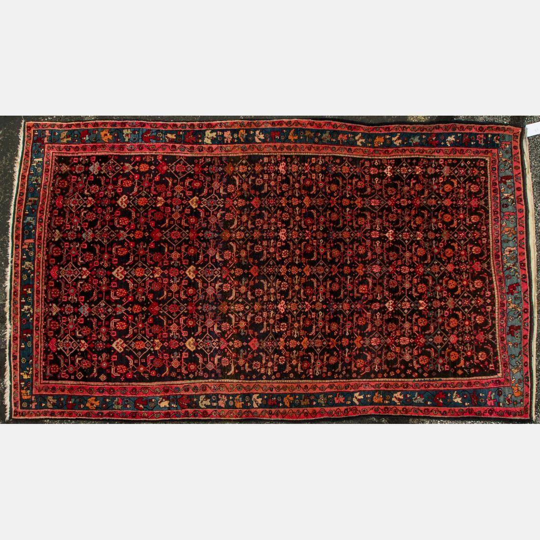 An Antique Persian Bijar Wool Rug, ca. 1930's.