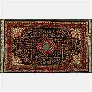 A Sino Persian Farahan Sarouk Wool Rug, 21st Century.