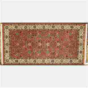An Indo PersianTabriz Wool Rug, 21st Century.