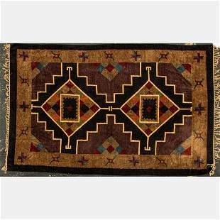 An Indo Caucasian Kazak Silk Rug, 21st Century.