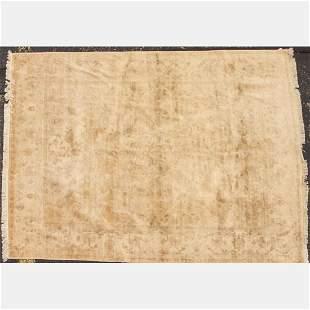 A Persian Tabriz Silk Rug, 20th Century.
