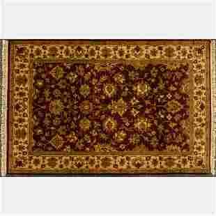 An Indo Persian Tabriz Wool Rug, 21st Century.