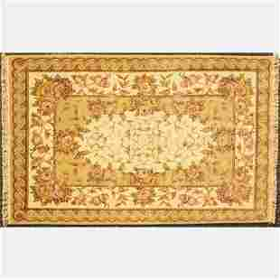 A Sino Persian Tabriz Silk and Wool Rug, 21st Century.