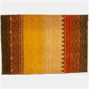 An Indo Persian Gabbeh Wool Rug, 21st Century.