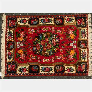 A Persian Bakhtiari Wool Rug, 20th Century.