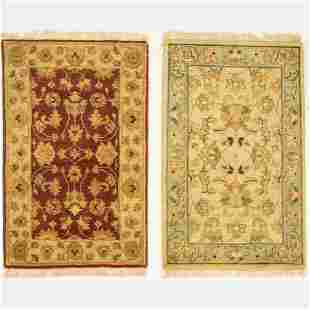 Two Indo Turkish Oushak Wool Rug, 21st Century.