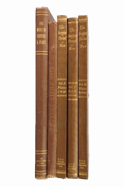1: [ARCHITECTURE- AMERICAN]. A group of 5 volumes.