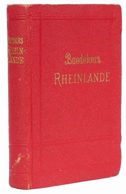 11: BAEDEKER, Karl, publishers. Die Rheinlande von der