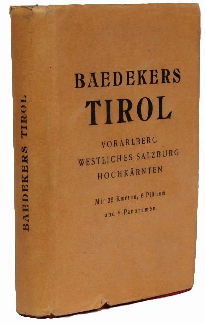 16: BAEDEKER, Karl, publishers. Tirol.