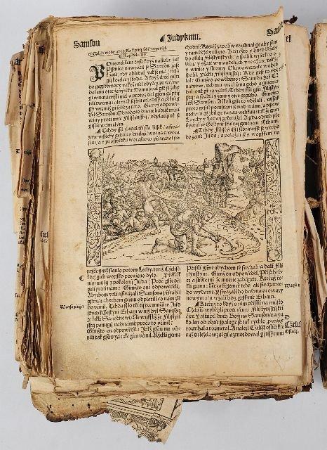23: BIBLE, German. [N.p., n.d. (ca 16th century)].