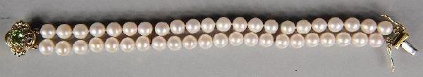 14: A Double Strand Akoya Pearl Bracelet,
