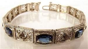 114: A Sterling Silver Costume Bracelet.