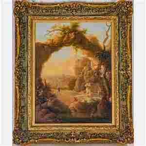 Jan Hackaert (Dutch, 1629-1699) Landscape, Oil on