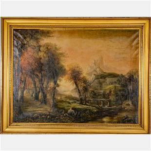 Artist Unknown (19th/20th Century) Bucolic Landscape,