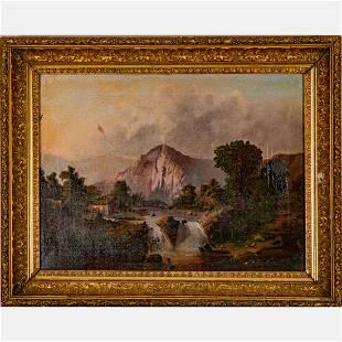 Artist Unknown (19th Century) Landscape with Cottage