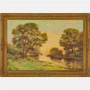 Michael Califano (1890-1979) River Landscape, Oil on