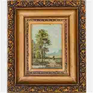 Artist Unknown (19th Century) Landscape, Oil on panel,
