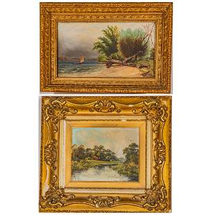 Two Framed 19th Century Paintings,