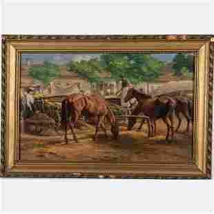 Ferenc Rosenmayer (Hungarian, 1864-1912) Market Scene