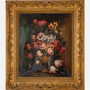 Artist Unknown (20th Century) Floral Still Life, Oil on