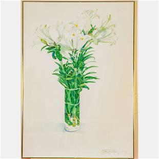 Gary Bukovnik (American, b. 1947) Lilies, Watercolor,