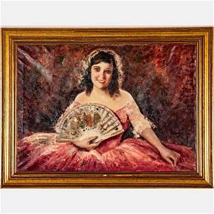 Ernesto Fontana (Italian, 1837-1918) Portrait of Lady,