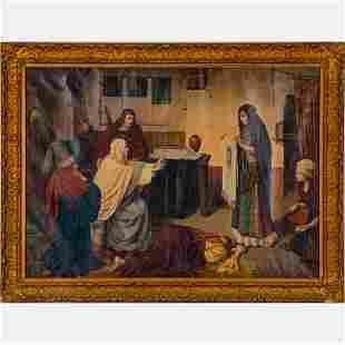 After Heinrich Hofmann (1824-1911) The Night of Good