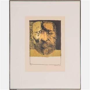 Leonard Baskin (American, 1922-2000) Self Portrait,