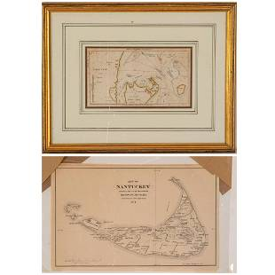 Two Maps of Cape Cod, 19th Century,
