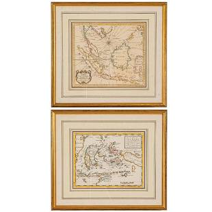 Two Hand Colored Copper Engraved maps of the East