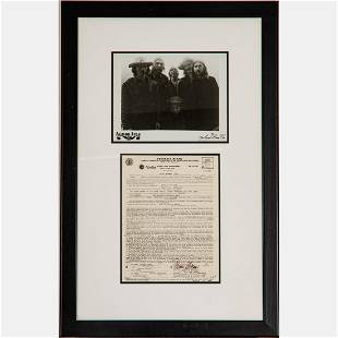 A Framed Allman Brothers Band Signed Contract, 1970,