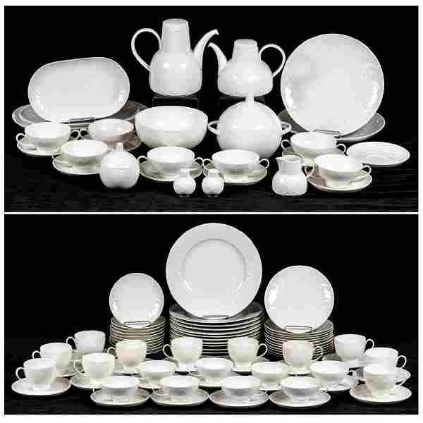 A Rosenthal Lotus Pattern Porcelain Service, 20th