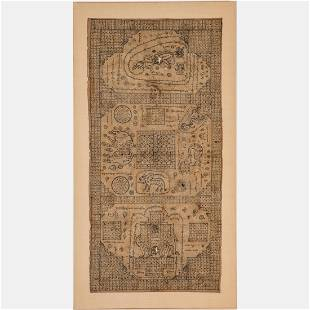 A Balinese Astrological Chart, Early 19th Century,