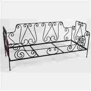 A Wrought Metal Daybed, Early 20th Century,