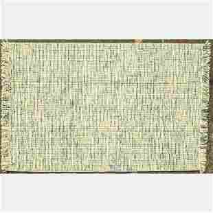 A Hand Knotted Indo Moroccan Wool Rug, 21st Century.