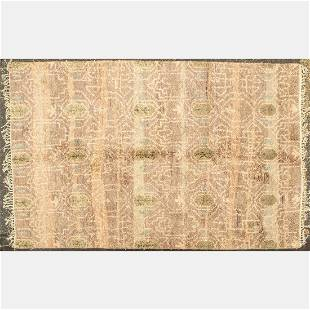 An Indo Turkish Oushak Wool Rug, 21st Century.