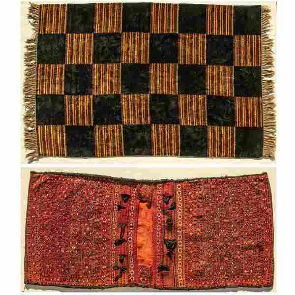 A Persian Kurdish Sumak Saddle Bag, 20th Century,