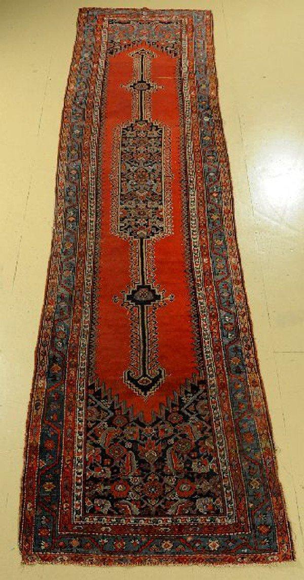 """An Antique Malayer Wool Runner, 13' x 3' 4"""""""