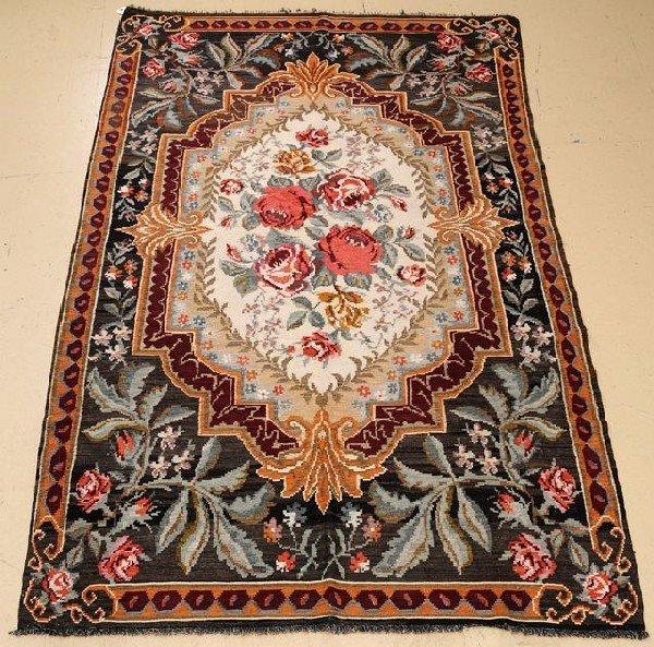 """An Antique European Kilim Wool Rug, 6' 2"""" x 10'"""