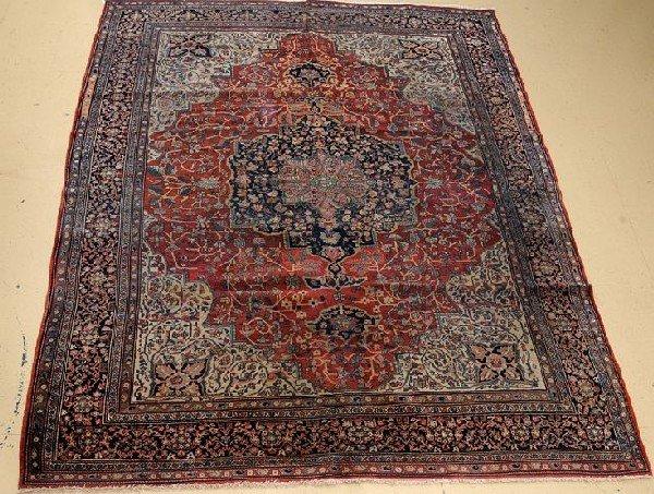 """An Antique Persian Sarouk Farahan Wool Rug, 11' 6"""" x 8' 9"""""""