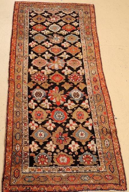 """An Antique Persian Kurd Wool Rug, 3' 2"""" x 7' 9"""""""