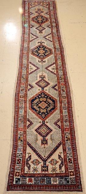 """An Antique Persian Serab Camel Hair Runner, 3' x 15' 4"""""""