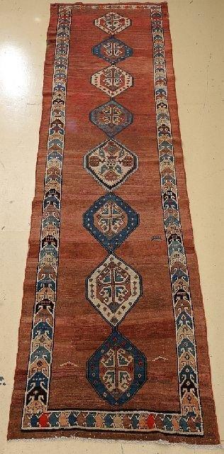 """An Antique Northwest Persian Wool Runner, 3' 5"""" x 12' 10"""""""