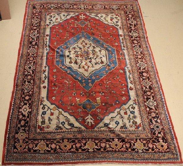 "An Antique Persian Mahal Wool Rug, 9' x 12' 9"""