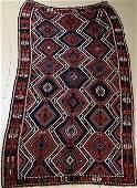 """An Antique Caucasian Shirvan Kilim Wool Rug, 5' 2"""" x 11' 5"""""""