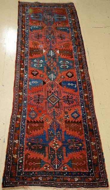 "A Northwest Persian Wool Rug, 10' 7"" x 3' 4"""