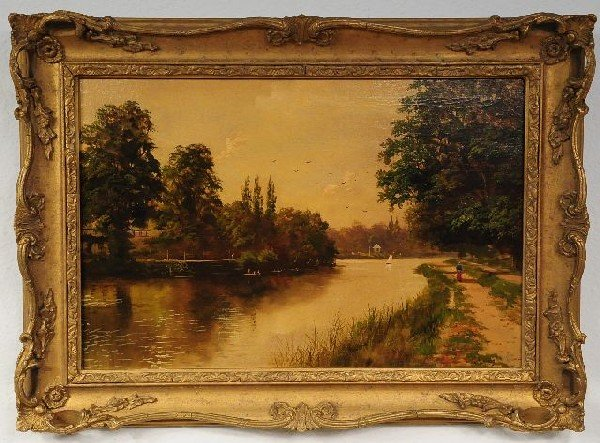 7: George Lewis (19th Century), Landscape with River, O